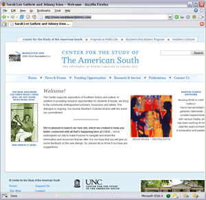 UNC Center for the Study of the American South