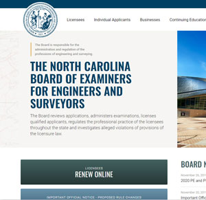 NC Board of Examiners for Engineers and Surveyors